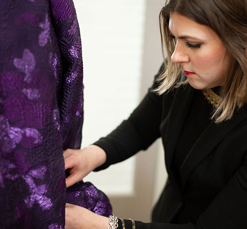 Dress reinventions are more of a step by step process allowing our clients the ability to visualize the change in the garment at each stage.